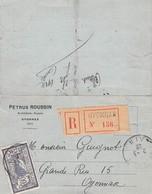 Carte-Lettre - Recommandé De Oyonnax à Oyonnax Ain - Tampon Pétrus Roussin Architecte à Oyonnax - Postal Stamped Stationery