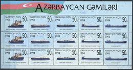 242 AZERBAIDJAN 1994 - Yvert 172 86 Feuilet - Bateau Navire - Neuf ** (MNH) Sans Trace De Charniere - Azerbaïdjan