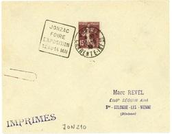 JONZAC  CHARENTE INFre 1933 Daguin FOIRE EXPOSITION 12 AU 14 MAI - Annullamenti Meccanici (pubblicitari)