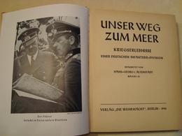 INFANTERIE WEHRMACHT 10-05-1940 LIMBURG ViaTIENEN SOIGNIES KORTRIJK IEPER DUNKERQUE - Allemand
