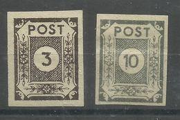 """Sowjetische Zone 51atxI, 52atx  """"2 Briefmarken Im Satz: Ziffernserie Ost.Sachsens """" Postfrisch Mi.:2,00 - Zona Soviética"""