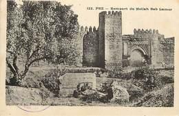 -ref-B297- Judaisme - Judaica - Fez - Maroc - Mellah Bab Larmer - Verso Cachet Er Regiment Aviation - Marcophilie - - Judaisme