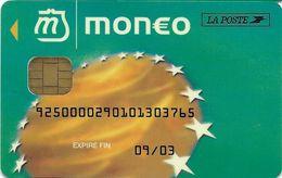 MONEO CARTE A PUCE PORTE-MONNAIE ELECTRONIQUE LA POSTE VILLE DE BOULOGNE-BILLANCOURT POUR COLLECTIONNEUR TRACES USAGES - Monéo