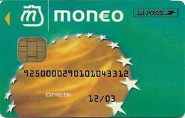 MONEO CARTE A PUCE PORTE-MONNAIE ELECTRONIQUE LA POSTE  POUR COLLECTIONNEUR TRACES USAGES - Monéo