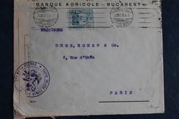 1915     LETTRE DE  ROUMANIE    CACHET  MILITAIRE  DE  CONTROLE  POSTAL  DE  DIEPPE TIMBRE  PERFORE 3 PHOTOS - Guerre De 1914-18