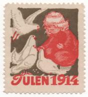 Denmark 1914, Julemaerke, Christmas Stamp, Vignet, Poster Stamp - Denmark
