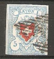 Timbre De 1851 ( Rayon I ) - 1843-1852 Timbres Cantonaux Et  Fédéraux