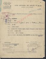MILITARIA DOCUMENTS MILITAIRE DECÉS GOLDSTEIN SAMI 2e CLASSE 13e DEMI BRIGADE LÉGÉRE LEGION ÉTRANGÈRE PARIS 45 LIRE : - Dokumente