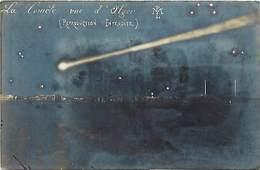 -ref-B290- Astronomie - La Comète Vue D Alger - Comètes - Algerie  - Carte Bon Etat - - Astronomie