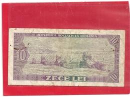 BANCA NATIONALA A REPUBLICII SOCIALISTE ROMANIA . 10 LEU .  1966 . SERIE G.0158 N° 775913  .  2 SCANES - Roumanie