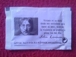 SPAIN SOBRE DE AZÚCAR PACKET OF SUGAR SUCRE ZUCKER ZUCCHERO VACÍO MÚSICO MUSIC MUSICA JOHN LENNON THE BEATLES EMPTY VER - Sucres
