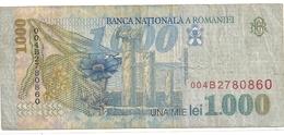 BANCA NATIONALA A ROMANIEI . 1.000 LEU .  1998 .  N° 004 B 2780860  .  2 SCANES - Roumanie