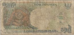 BANK INDONESIA . 500 RUPIAH . 1992 . N° YTK 227523 .  .  2 SCANES - Indonésie
