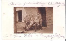 """CARTE -PHOTO OISE 60 WW1 PIMPREZ Près De Noyon . Occupation Allemande  Première Guerre  """"notre Villa """" - Frankrijk"""