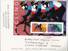 USA 1996 Cover With Bloc Mi 38  Cycling - United States