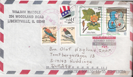 USA 1999 Cover With Five Stamps, Hat, Birds, Flower, Share Your Life, Cover - United States