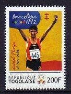 Barcelona 1992 Olympics Mnh Stamp With Gold Medal Winner Daniel Plaza 20 Km Walk .Togolaise - Summer 1992: Barcelona