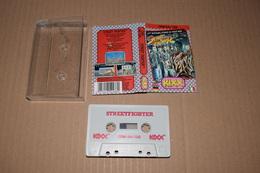 K7 Street Fighter Commodore 64 /128 Anglais Italien Allemand + Notice Non Tester - Commodore