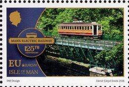 Isle Of Man - 2018 - Europa CEPT - Bridges - Manx Electric Railway - Mint Stamp - Man (Eiland)
