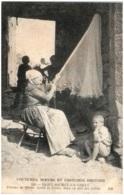 22 COSTUMES, MOEURS ET COSTUMES BRETONS - SAINT-MICHEL-en-GREVE - Femme De Marin. Après La Pêche, Mise En état Des Filet - Saint-Michel-en-Grève