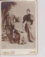 B4  -  CABINET  PH,  CDV  -  CZECH, ZNAIM, ZNOJMO  ~  FAMILY .~   ATELIER VLK  ~   BIG FORMAT 16  X 10,5 - Old (before 1900)