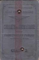 Romania, 1927, Romanian Railways CFR - Identity Card For Public Officers, 3rd Class - Titres De Transport