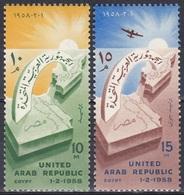 Ägypten Egypt 1958 Geschichte History Gründung Arabische Republik Arab Repubic, Mi. 537-8 ** - Egypt