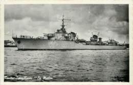 Bateau De Guerre Contre Torpilleur Le Malin - Cherbourg En 1947 - Voir Correspondance - Guerre