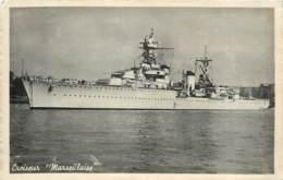 Bateau De Guerre Croiseur Marseillaise - Coulé Dans L'atlantique - Voir Témoignage Marin Correspondance - Guerre