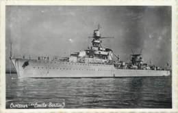 Bateau De Guerre Croiseur Emile Bertin - Voir Témoignage Marin à Bord Du Richelieu à Cherbourg 1947 - Guerre