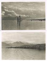 Lot 2 AK Tromsø, Ansichten Mit Bucht Und Segelschiff Um 1930 - Norvège
