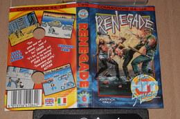 K7 Renegade Commodore 64 /128 Anglais Italien + Notice Non Tester - Commodore