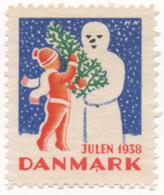 Denmark 1938, Julemaerke, Christmas Stamp, Vignet, Poster Stamp - Denmark
