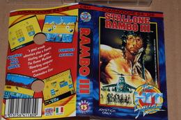 K7 Stallone Rambo III Commodore 64 /128 Anglais Italien + Notice Non Tester - Commodore