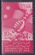 Ägypten Egypt 1958 Geschichte History Republik Republic Irak Iraq Fesseln Fackel Torch Fahnen Flaggen Flags, Mi. 549 ** - Egypt
