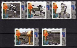 Melbourne 1956 Olympics Mnh Stamps With Gold Medal Winner Murray Rose,Field Hockey,Olympic Flame.Aitutaki 4$. - Zomer 1956: Melbourne