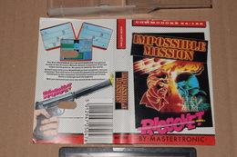 K7 Mission Impossible Commodore 64 /128 Anglais + Notice Non Tester - Commodore