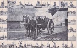 CPA Nederland/ Pays-Bas - Noord-Brabant Dorpsleven Brabantsche Huifkar - 1906 - Molen - Pays-Bas