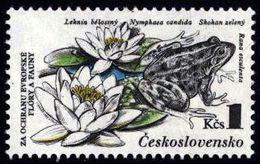 Czechoslovakia Tschechoslowakei Tchécoslovaquie 1983 ** MNH Water Lilies And Edible Frogs Teichfrosch Grenouille Verte - Frösche