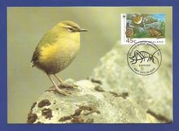 New Zealand 1993  Mi.Nr. 1292 , Rock Wren / Felsschlpfer - WWF Official Maximum Card 9 June 1993 - Used Stamps