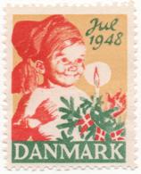Denmark 1948, Julemaerke, Christmas Stamp, Vignet, Poster Stamp - Denmark