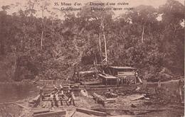 E.P. Congo Ruanda-Urundi - Mines D'Or - Dragage D'une Rivière / Goudmijnen  Uitbaggeren Eener Rivier - N°35 - 1928 - Entiers Postaux