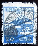 1944 Japon  Yt 332 . Mount Fuji . Regular Series: 2nd Showa (1942-45) Belle Oblitération - 1926-89 Empereur Hirohito (Ere Showa)