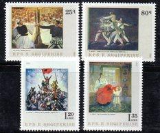 XP3975 - ALBANIA 1981 , Yvert Serie N. 1902/1905  *** Pittura - Albania