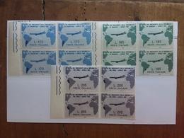 REPUBBLICA - Viaggio Presidente Gronchi Nel 1961 - Serie In Quartina Nuovi ** + Spedizione Prioritaria - 6. 1946-.. Repubblica