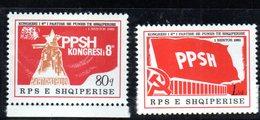 XP3976 - ALBANIA 1981 , Yvert Serie N. 1910/1911  *** Partito - Albania