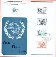 Belgium België Postfolder 1974 Nr 14 OBC 1729/1730 Oevel - Documents De La Poste