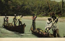 Panama, Talemanca Indians Fishing Boats (1910s) J.L. Maduro Postcard - Panama