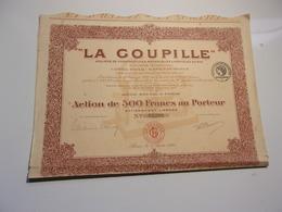 LA GOUPILLE (1921) - Unclassified