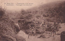 E.P. Congo - Ruanda-Urundi -  Mines D'Or Construction D'un Barrage / Goudmijnen Aanleggen Van Eenen Dam -  N°36 - 1928 - Stamped Stationery